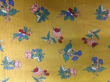 CLEARANCE: Imprimé Floral Jaune velours côtelé 108 cms - 260 gsm - Unique