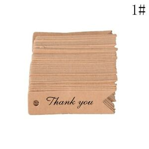 100PCS Kraft paper Handmade Thank you Tag Label Brwon colour gift wedding party