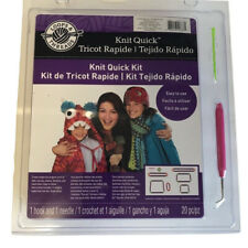 Knit Quick Kit by Loops & Threads 20 Piece Set to Create Easy Fun Projects New
