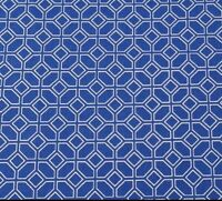 Blue Moon by Studio 8 Quilting Treasures BTY Royal Blue & White Geometric