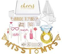 Bachelorette Party Decorations Kit / Bridal Shower Supplies with Cheers Gift Box