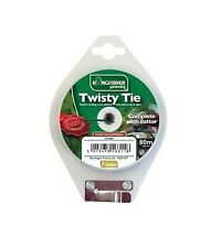 Kingfisher - Garden Twisty Tie With Cutter - Plastic Garden Twine 80 Meter