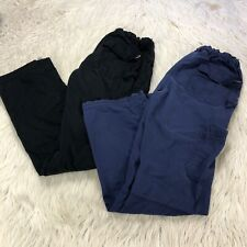 Lot 2 - Koi Women's S Tall Cargo Scrub Pants Bottoms Navy Black