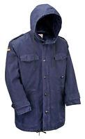 German Parka Original Army Surplus Military Winter Warm Fleece Hooded Coat Navy
