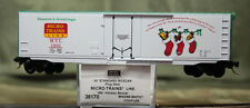 38170 N Scale 50' Plug Door Micro Trains Holiday Boxcar 1991 Black Label
