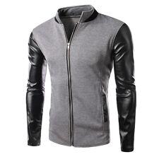 New Men's Fashion Casual Jacket Warm Winter Baseball Coat Slim Outwear Overcoat