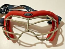 DEBEER Vista Lax Field Hockey Lacrosse Goggles Eye Protection Mask Guard_Red
