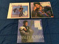 Stanley Jordan Vinyl LP Lot Magic Touch Standards Flying Home Blue Note Jazz
