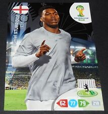 STURRIDGE ANGLETERRE ENGLAND FOOTBALL CARD PANINI FIFA WORLD CUP BRASIL 2014