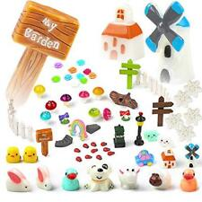 Hifot Fairy Garden Ornaments Miniature Accessories Landscape Kit 60 Pieces, Anim