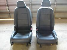 06-10 OEM VW Jetta Heated Anthracite Gray Seats Front Driver Passenger Seat MK5