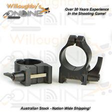 "Warne Maxima 1"" QD High Matte Steel Rings For 42-52mm OBJ Scope Quick Detach"