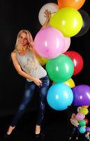 10 TOLLE 45-48cm Ø Luftballons bunt * 10 x Ballons bunt * BWS /RIFCO * PREMIUM *