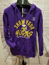 MINNESOTA VIKINGS SMALL WOMENS HOODIE HOODY SWEATSHRT LADIES PRINTED FANATICS