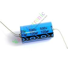 4pc 500V 100uf 85C New long copper leads Axial Electrolytic Capacitor audio amp