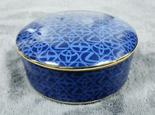 TIFFANY & CO BLUE TOYOTA LEXUS MOTOR TRINKET GOLD TRIM PORCELAIN BOX JAPAN 4""