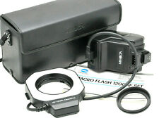 MINOLTA MACRO FLASH 1200AF with case, instructions & 49mm ring