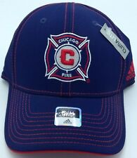 MLS Chicago Fire Adidas Structured Curved Brim Flex Fit Cap NEW SEE DESCRIPTION