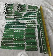 Meccano selection (60) of good  mid-green medium weight parts MC/31