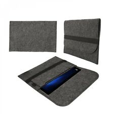 eFabrik Hülle für Microsoft Surface Pro 4 Schutz Tasche Sleeve Cover Filz grau