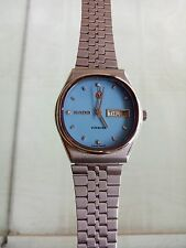 Rado Voyager Automatic Day Date vintage Men's Wrist Watch Nice Sky Blue Dial