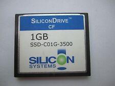 SiliconDrive 1GB CF Compact Flash  CF Card SSD-C01G-3500