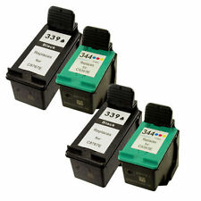 2 HP 339 C8767EE Black+2 HP 344 C9363EE Colour Reman Ink Cart HP Photosmart 2575
