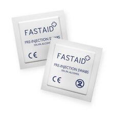 Alcohol Wipes Pre-Injection Swabs FastAid 70% IPA NHS GRADE Pads Tattoo CE Mark