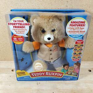 Teddy Ruxpin Animated Talking Storytime Bear Bluetooth LCD Eyes 2017 NIB