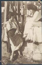 ROMANIA nice couple in traditional costume RPPC 1920s