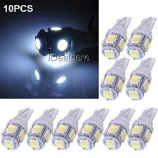 10x 24V 5SMD LED 5050 T10 194 147 W5W White Width Reading License Plate Light
