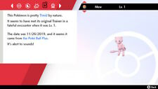 Mew Poke Ball Plus 6iv 100% Legal Non Shiny Pokemon Sword and Shield