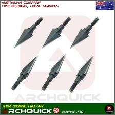 6/12 x Archery Hunting Broadhead 2 Blade 100grain Compound Recurve Bow Hunting