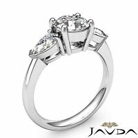 Platinum 3 Three Stone Natural Round 2ct Javda Diamond Engagement Ring GIA F SI1