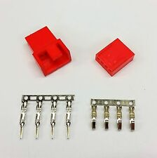 MASCHIO & FEMMINA 4 PIN PC FAN LED connettori di alimentazione - 10 di ogni-Rosso Inc PIN