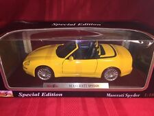 Maisto Maserati Spider Special Edition 1/18 Scale Die Cast- New In Box