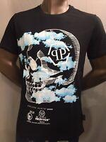 Philipp Plein men's t-shirt  round neck SS Clouds Black XL