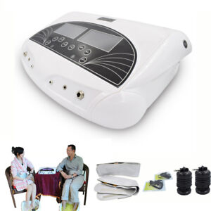 Dual Ion Detox Ionic Foot Bath Spa Cleanse Machine Infrared Belt Large LCD