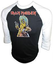 VTG 1981 Iron Maiden Heavy Metal Rock band KILLERS Iron-On New Unused T-SHIRT