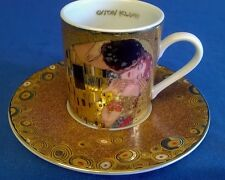 GOEBEL GUSTAV KLIMT THE KISS DER KUSS DEMITASSE COFFEE MOCHA CUP & SAUCER 5677