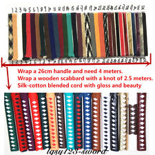 500cm Silk ito sageo wrapping cord for Japanese samurai sword katana wakizashi