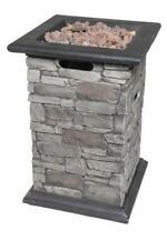 40000 Btu Propane Gas Envirostone Outdoor Garden Fire Bowl Column w/ Pvc Cover