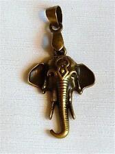 Antiqued Acabado Bronce Colgante-Cabeza De Elefante Con Colmillos - 24 Mm.......... p268 *