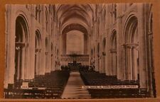 Postcard Unposted Dorset The Nave E Christchurch Priory real photo