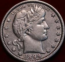 1899-O New Orleans Mint Silver Barber Quarter