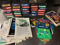 Lot Of 30 Intellivision Games Manuals And Overlays Pinball Dungeons And Dragons