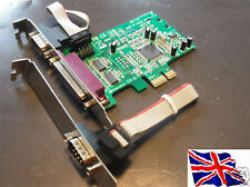 Serial RS232 x2 + parallela PCIe PCI Express Card
