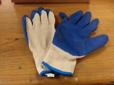 12 Pair Economy Rubber Dipped String Knit Gloves Large Rubber Palm Coat 1275Rl