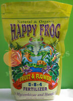 FoxFarm Happy Frog FRUIT & FLOWER 4 lbs Natural Organic Fertilizer Fox Farm 4 lb