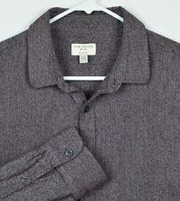 Club Monaco Men's Sz XL Slim Fit Purple Chambray Long Sleeve Shirt